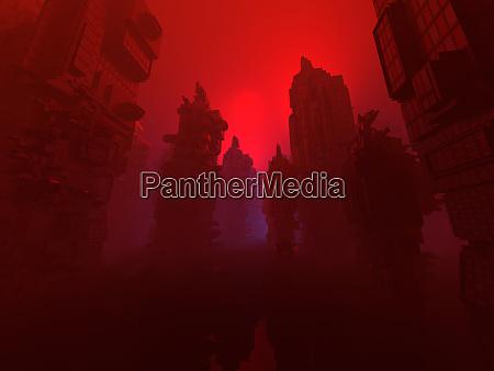 3d rendered illustration conceptual architecture visualisation