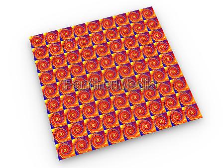 vibrant lsd blotter repeating pattern 3d
