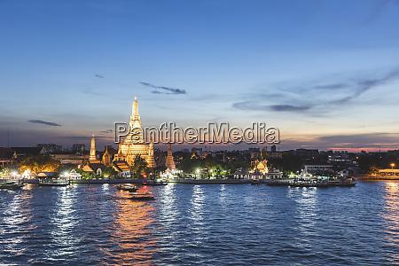 thailand bangkok wat arun temple at