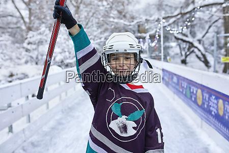 portrait of a boy in ice