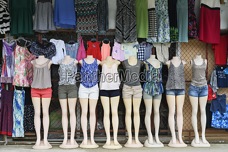 womens clothing on display on mannequins