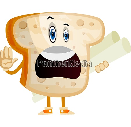 employed bread illustration vector on white