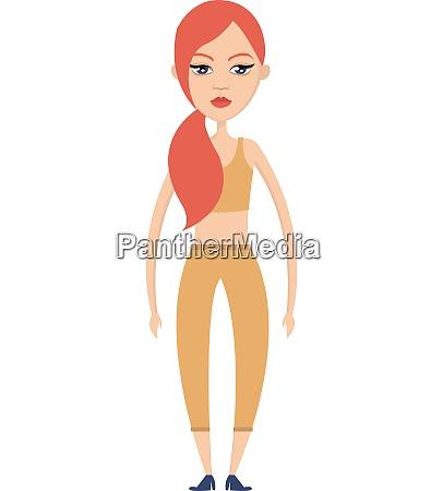 girl in yellow illustration vector on