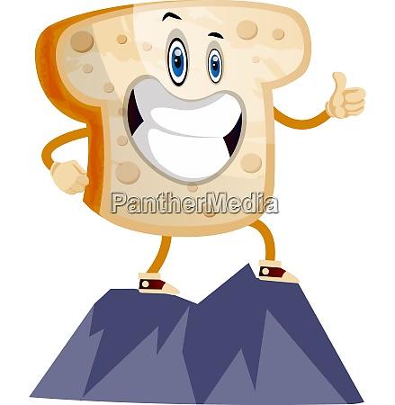 toast on mountain illustration vector on