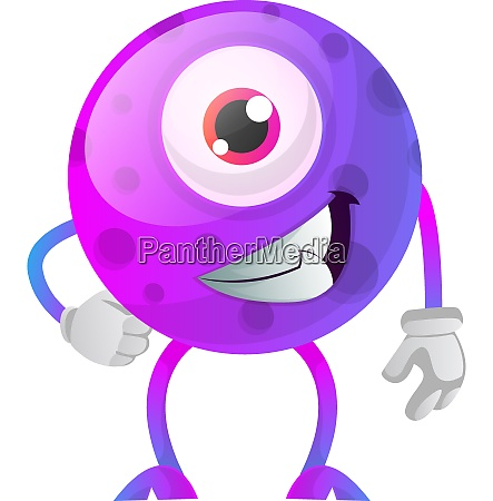 chill out purple monster with one