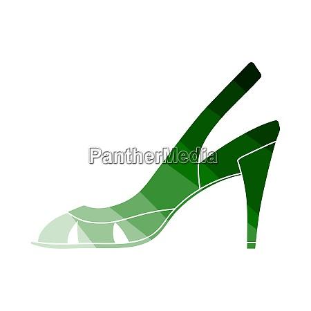 woman heeled sandal icon