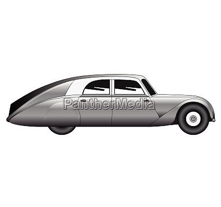vintage model of car vector
