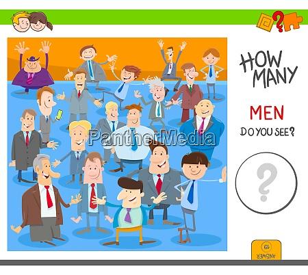 count men characters activity worksheet