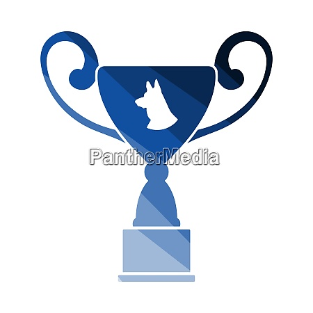 dog prize cup icon