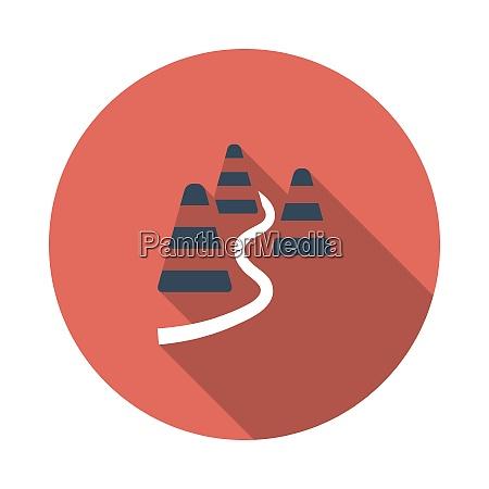 soccer training cones icon