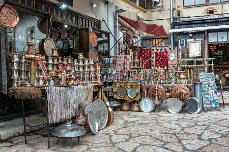 variety of souvenirs in sarajevo bosnia
