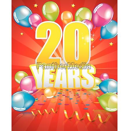 20 years birthday card