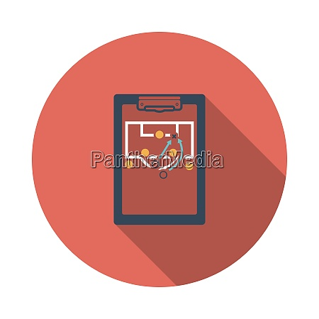 soccer, coach, tablet, with, scheme, of - 26936114