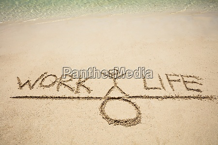 work and life balance concept on