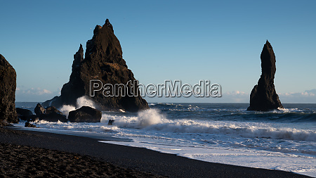 reynisfjara close to vik iceland europe