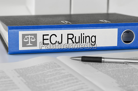 folder with the label ecj ruling