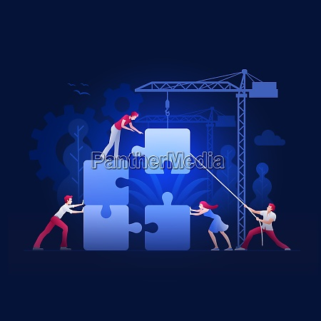 business teamwork concept vector illustration