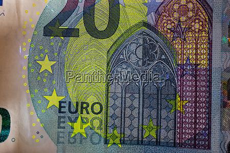 euro money machine in uv light