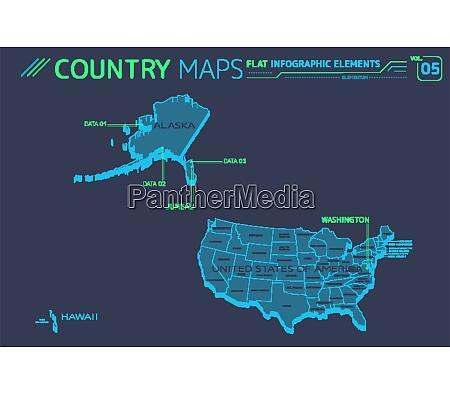 united states of america alaska hawaii