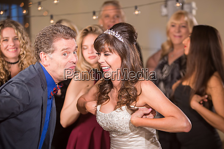 silly dance at a wedding