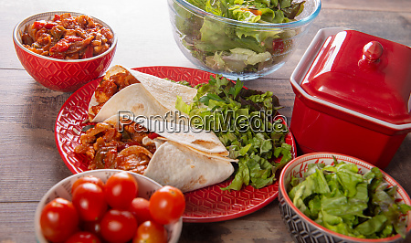 fajitas with chicken mexican cuisine tex
