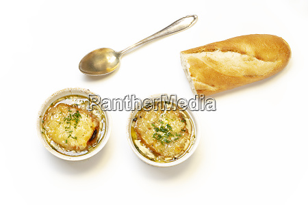 french onion soup on wood
