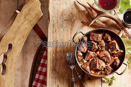 wild venison hotpot of goulash with