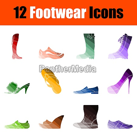 footwear icon set