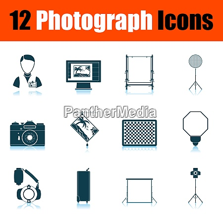 photograph icon set