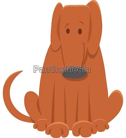 brown dog funny cartoon character