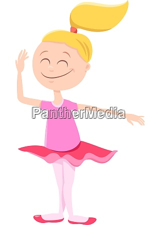 happy ballerina girl cartoon character
