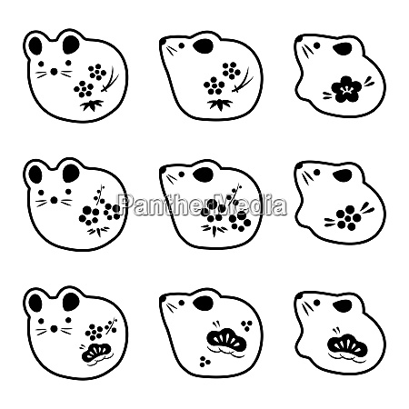 mouse doll icon illustration new year