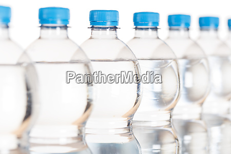 mineral water bottle bottles isolated on