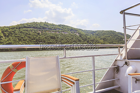 danube river and nature landscape from