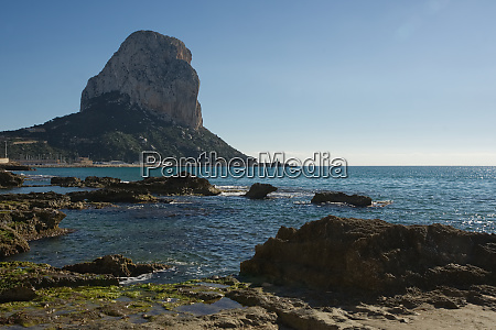 seafront at calpe spain