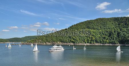 panoramic view of rursee reservoir in