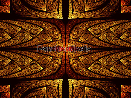 intricate fractal pattern abstract digitally