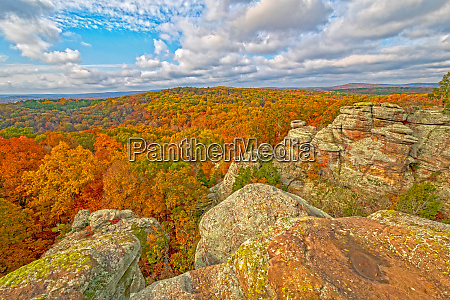 sunny skies and fall colors in