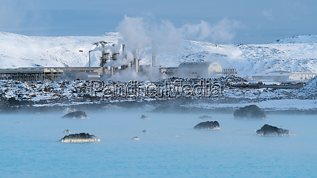 geothermal power plant of grindavik iceland