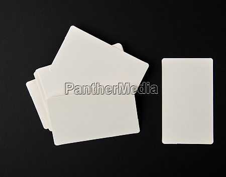 stack of blank rectangular paper white