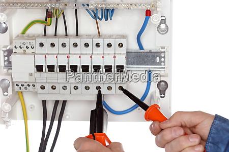 electrician is repairing