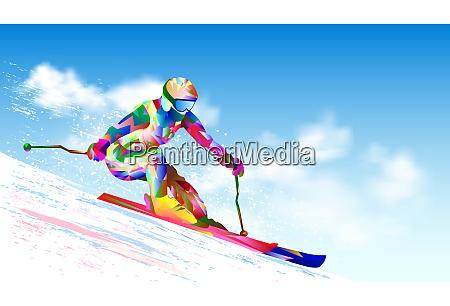 alpine skiing athlete