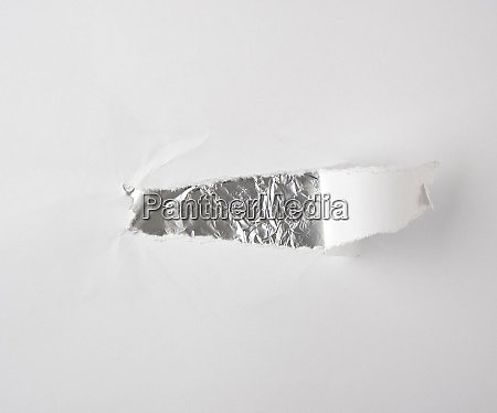 sheet of paper with a hole