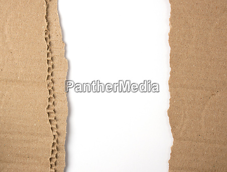 brown craft paper on white background