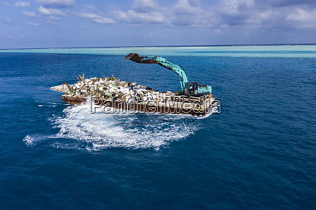 maledives south male atoll plastic waste