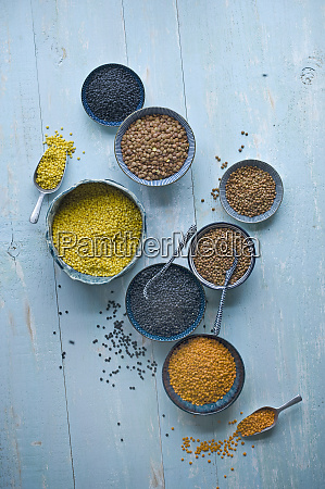 variety of lentils