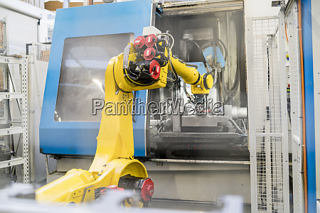 industrial robot in modern factory