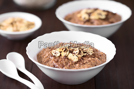 chocolate oatmeal or oat porridge