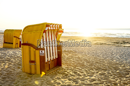 germany north sea cuxhaven beach chair
