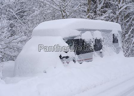 germany geretsried camper snowed up